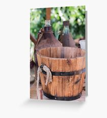 old wooden container Greeting Card