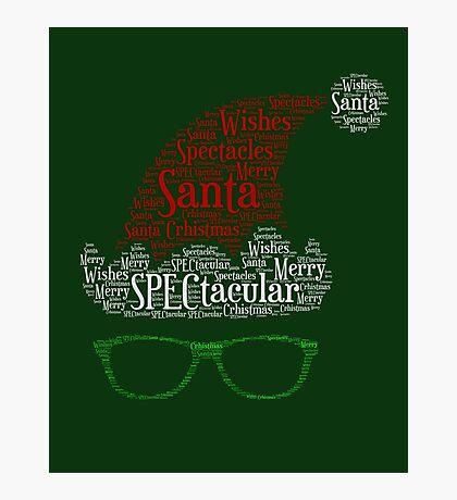 Santa Loves His Spectactular Christmas Specs Photographic Print