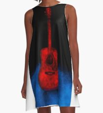 The Red Guitar A-Line Dress