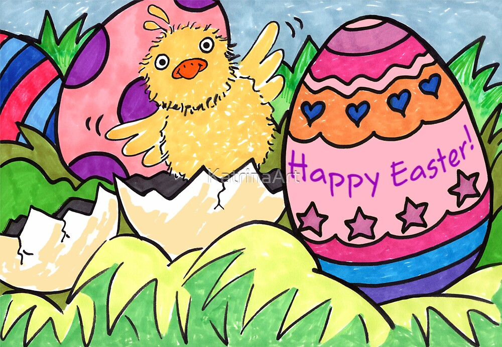 Easter Chick by KatrinaArt