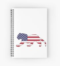 American Flag – Tiger Spiral Notebook