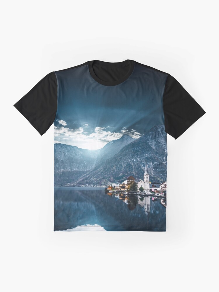 Alternate view of hallstatt in austrian alps Graphic T-Shirt