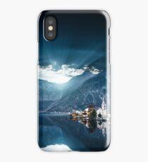 hallstatt in austrian alps iPhone Case