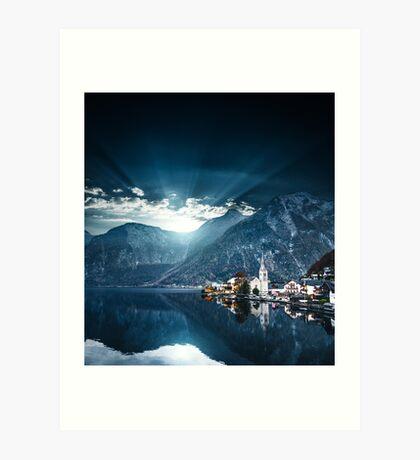 hallstatt in austrian alps Art Print
