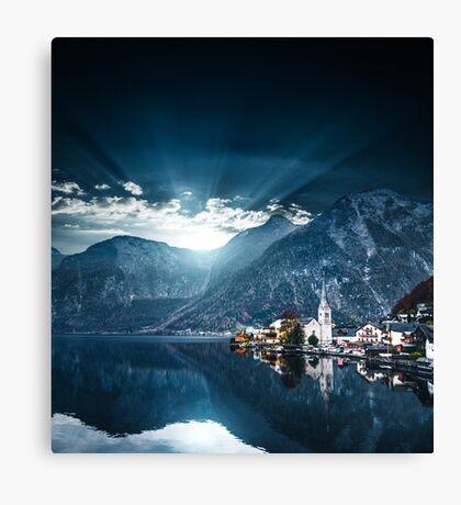 hallstatt in austrian alps Canvas Print