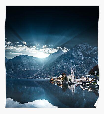 hallstatt in austrian alps Poster