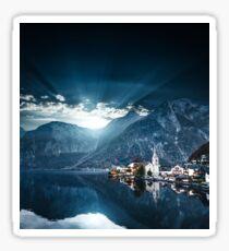 hallstatt in austrian alps Sticker