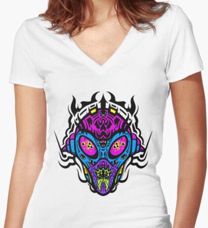 Stranger Still - The Pretty Colors Women's Fitted V-Neck T-Shirt