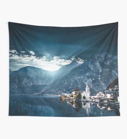 hallstatt in austrian alps Wall Tapestry