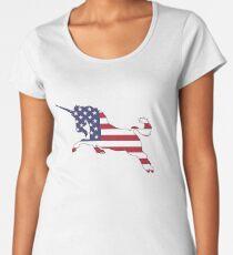 American Flag – Unicorn Women's Premium T-Shirt