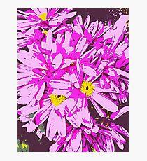 Archos Neon Android Flower Arrangement Photographic Print