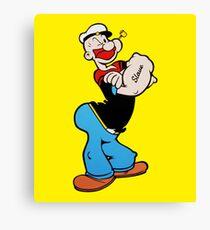 Popeye Comic Pop Art - (Bullseye) Canvas Print