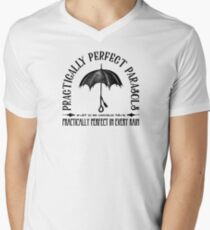 Practically Perfect Parasols Mens V-Neck T-Shirt