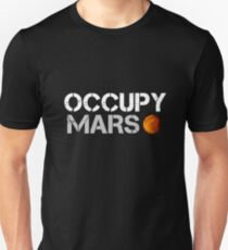 Camiseta unisex elon almizcle ocupan marte