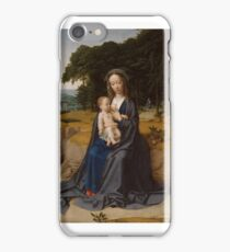 The Rest on the Flight into Egypt , Gerard David (Netherlandish, Oudewater ca.  Bruges) iPhone Case/Skin