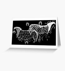 Dappled Horses of Pech Merle Greeting Card