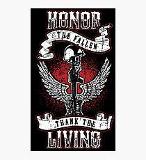 Honor the fallen! Patriotic! USA! Photographic Print