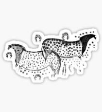 Dappled Horses of Pech Merle Sticker