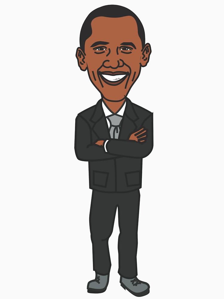 Barack Obama T-Shirt - Cartoon Barack Obama by shirtpossum