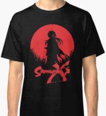 Samurai X Silhouette Red Moon Classic T-Shirt