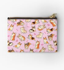 Lovey corgis in pink Studio Pouch