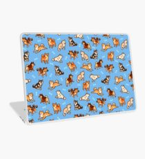 shibes in light blue Laptop Skin