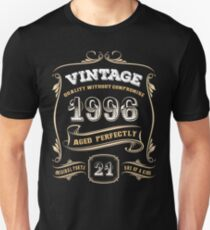 21st Birthday Gift Gold Vintage 1996 Aged Perfectly T-Shirt