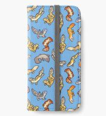 Vinilo o funda para iPhone geckos de gemelos en azul