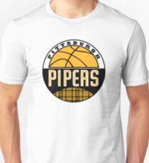 Pittsburgh Pipers ABA Logo Recreated Slim Fit T-Shirt