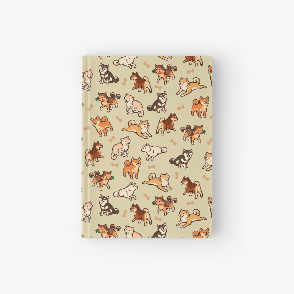 shibes in cream Hardcover Journal