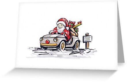 Santa's New Sleigh by yeomanscarart