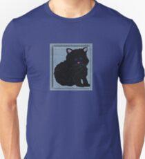 Kitten Cat Black Blue Eyes Unisex T-Shirt