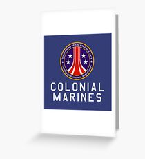 Colonial Marines : Inspired by Aliens Greeting Card