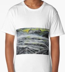 Birds over winter landscape Long T-Shirt