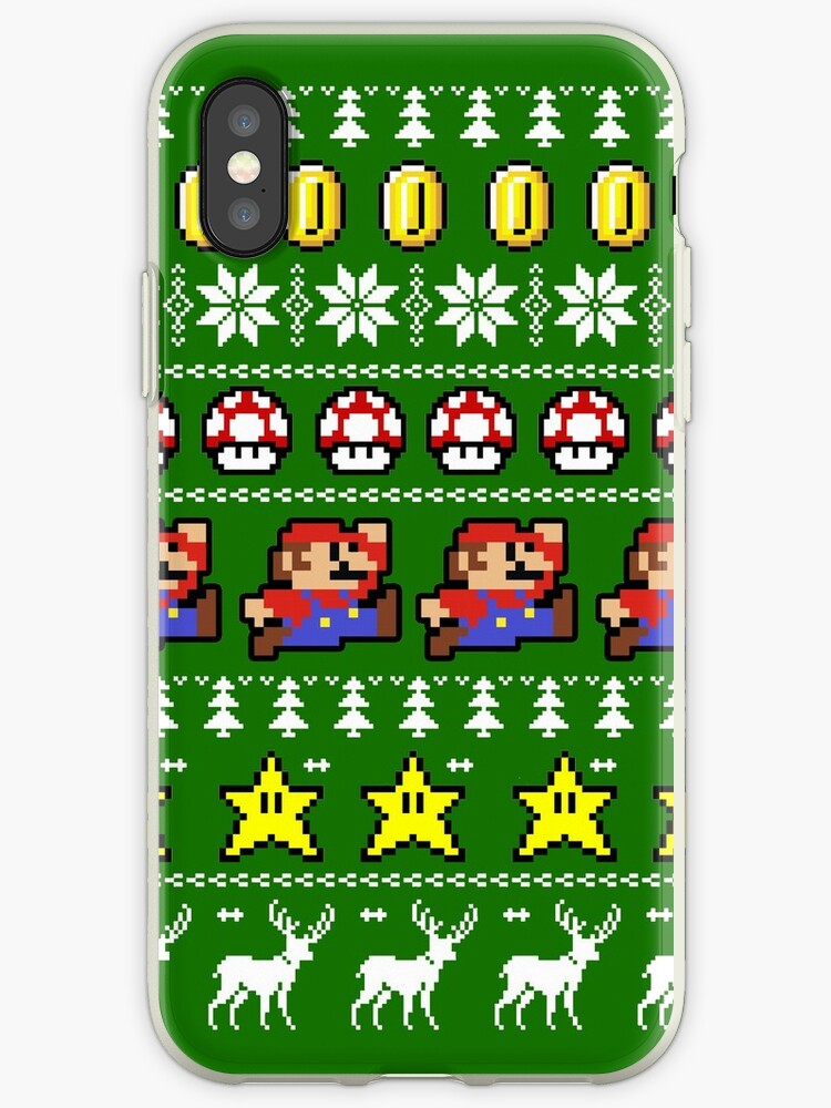 Super Mario 8-bit Ugly Christmas by ohsotorix3