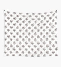 Black and White Roses Pattern Wall Tapestry