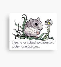 Communist Hamster Canvas Print