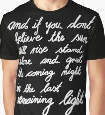 The Last Remaining Light (Chris Cornell inspired) Graphic T-Shirt