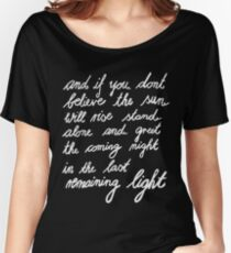 The Last Remaining Light (Chris Cornell inspired) Women's Relaxed Fit T-Shirt