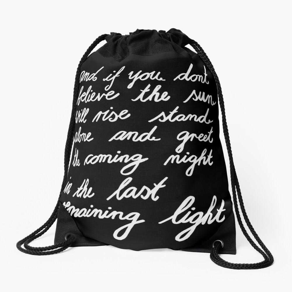 The Last Remaining Light (Chris Cornell inspired) Drawstring Bag