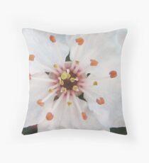 Prunus Blossom Throw Pillow