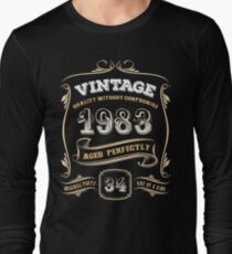 34th Birthday Gift Gold Vintage 1983 Aged Perfectly T-Shirt