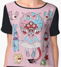Eye Am Kawaii Krampus Women's Chiffon Top