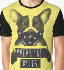 Rebel dog (yellow) Graphic T-Shirt