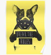 Rebel dog (yellow) Poster