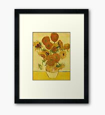 'Still Life with Sunflowers' by Vincent Van Gogh (Reproduction) Framed Print