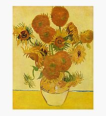 'Still Life with Sunflowers' by Vincent Van Gogh (Reproduction) Photographic Print