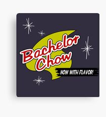 Bachelor Chow : Inspired by Futurama Canvas Print