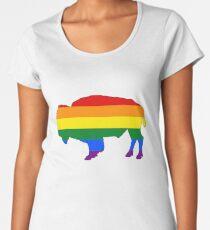 Rainbow Bison Women's Premium T-Shirt