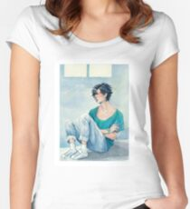 jumin in blue Fitted Scoop T-Shirt